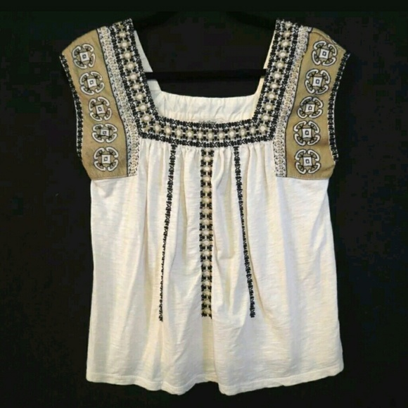 13e49028a9270 Lucky Brand Tops - Lucky Brand Embroidered boho blouse